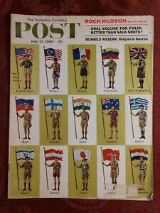 Saturday Evening POST Magazine July 23 1960 BSA Boy Scouts Jamboree Rock Hudson