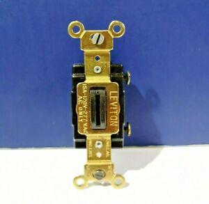 Leviton BROWN Single Pole LOCKING Type Flush Toggle Light Switch 5511 NEW