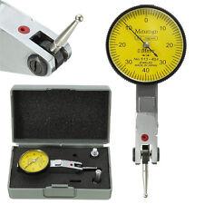 Metal Dial Gauge Test Indicator Precision Metric + Dovetail Rails 0-40-0 0.01mm