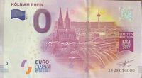 BILLET 0  EURO KOLN AM RHEIN  2 ALLEMAGNE 2017  NUMERO 10000 DERNIER BILLET