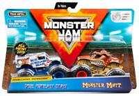 Monster Jam 2 Pack of Vehicles Trucks - Ice Cream Man & Monster Mutt