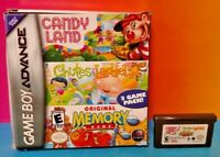 Candy Land Chutes Ladders Memory Game  - Game Boy Advance - Tested Nintendo