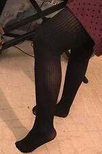 2-Pack Black Pantyhose 1 Pair Ribbed/1 Pair Houndstooth Size 6X Very pretty!!!