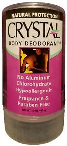 Crystal Body Deodorant - 1.5 oz. - Natural Protection - Hypoallergenic
