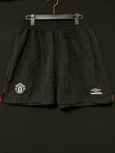 1999-2000 Manchester United Away Football Shorts Soccer UMBRO Size:L