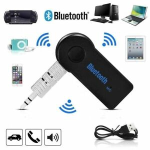 Wireless Car Bluetooth Receiver Adapter 3.5MM AUX Audio Stereo Music UK STOCK
