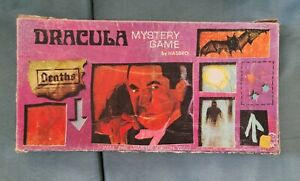 Vintage Dracula Universal Monsters Hasbro Mystery Game - Incomplete In Box 1960s