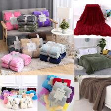 Fluffy Throw Blanket Faux Fur Cozy Blanket Long Plush Bed Sofa Bedspread Blanket