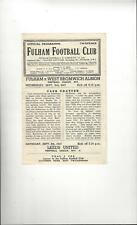 Fulham v West Bromwich Albion Football Programme 1947/48
