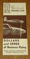 Vintage Rare 1962 Beechcraft Model B95A Travel Air Brochure