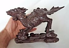 SUPERBE 19TH siècle chinois (Japonais?) Foo Dog/lion statue de bronze