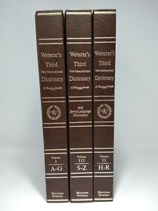 Webster's 3rd New International Dictionary of the English Language 3 Volumes