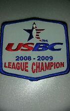 U.S.B.C league champion 2008-2009 patch bowling