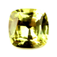 Certified Natural Unheated Canary Yellow Sapphire VVS Clarity Madagascar Cushion