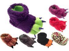 Niños Niñas Niños Childrens Novedad Navidad Zapatillas Botas Fluffy Monster Garra