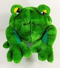 Plush Frog Toad Green Yellow Eyes Kuddle Me Toys Stuffed Lovey toy Froggy