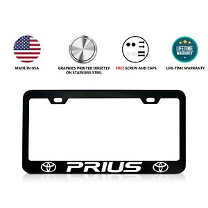Toyota Prius Stainless Steel Black License Plate Frame