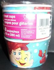 Little Mermaid paper ice cream fruit treat cups bowls 8 ct party supplies