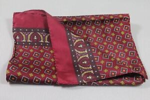 """Men's silk scarf 62""""x11 1/4"""" made in Italy"""