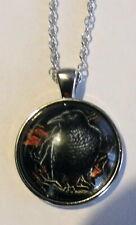 Halskette Anhänger Rabe Necklace Black Raven