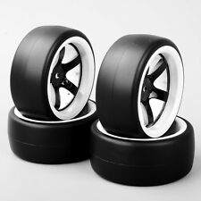 4PCS 1/10 RC Speed Drift Racing Car Slick Tire & 5 Spoke Wheel For HSP HPI D5NWK