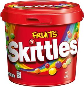 2x Skittles Fruit Party Bucket, 720g-AU