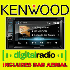 "KENWOOD CAR CD DVD USB STEREO doppio din Bluetooth iPhone 6,1 ""DAB Radio Aerial"