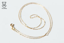 High Quality Dainty 18K Solid Yellow Gold Cable Chain 16, 18 Inches Adjustable