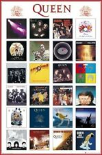 Collection of QUEEN music album covers fridge magnet - new!