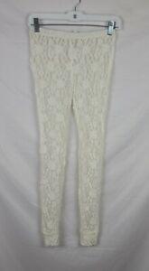 NWOT Intimately Free People Women's Cream Lace Sheer Leggings sz XS