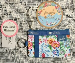 NEW LeSportsac ID CARD CASE Pouch Hawaii Dreaming Exclusive 2437 K741