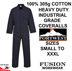COTTON COVERALLS / OVERALL,HEAVY DUTY.305g 100% COTTON.WELDING GRINDING COVERALL