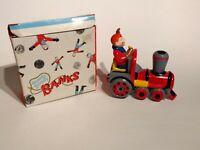 Vintage Howdy Doody Ceramic Train  Piggy Bank in Original Box