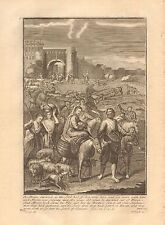 1770  ANTIQUE PRINT -BIBLE- SO ABRAM DEPARTED, AS THE LORD HAS SPOKEN UNTO HIM