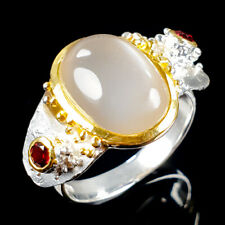 Natural Moonstone 925 Sterling Silver SET  Ring Size 8.5/R108444