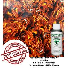 Hydrographic Film Water Transfer Hydro Dip 6oz Activator Flaming Devil Kit