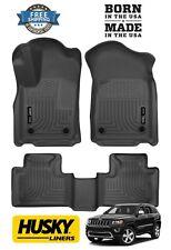 Husky Weatherbeater fits 16-19 Jeep Grand Cherokee Floor Mats Liners 99151 Black