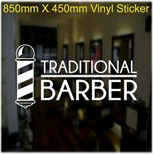 Barber Shop Window Graphic Self Adhesive Sticker Decal  FOR OUTSIDE APPLICATION