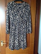 MARKS AND SPENCER ANIMAL PRINT CAMEL DRESS SIZE 12 PETITE BRAND NEW WITH TAGS