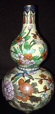 Antique/ Vintage Cloisonne Double Gourd Vase Ivory Color
