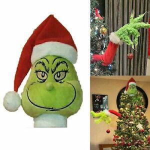 Grinch Christmas Decorations Furry Green Grinch Arm Head Tree Ornament Sets AU