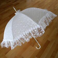 Regenschirm Weiß Damen-accessoires Schirme Hochzeitsschirm In Herzform Reinweiß Und LichtdurchläSsig