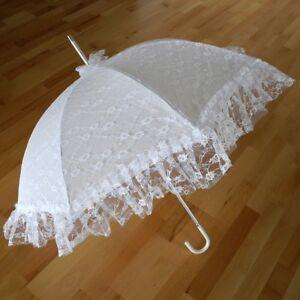 Braut-Schirm Hochzeit Regenschirm Damen HAPPY RAIN Theater Bühne Kostüm Kulisse