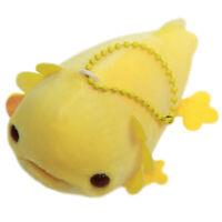 """Axolotl Plush Doll Super Soft Plushie Stuffed Animal Small Keychain 4"""" Yellow"""