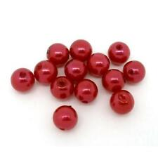 Red Acrylic Round Spacer Beads 8mm 55+ Pcs Art Hobby DIY Jewellery Making Crafts