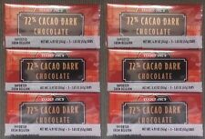 NEW (18) Trader Joes 72% CACAO Dark Chocolate Candy Bars NO ARTIFICIAL FLAVORS
