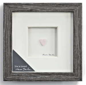 """Demdaco SHE IS LOVED WALL ART Sharon Nowlan Collection 6X6"""" 1004370097 NEW MinT!"""