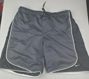 Vintage Nike Swim Trunks Shorts Mens  XL/XXL Gray Tag Retro Gray and Black