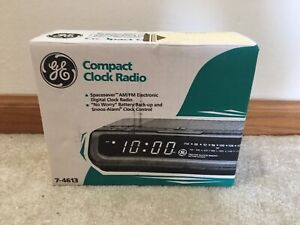 GE Compact Clock Electronic Digital Radio Alarm Clock Model NEW