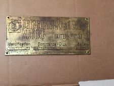 Vintage Brissonneau & Lotz Marine France  Brass ID Plaque Nautical